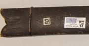 Pochwa szabli indyjskiej SOSUN PATTAH - XVIII w. [od góry: stan przed oraz po konserwacji i restauracji]