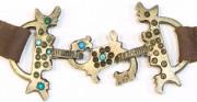 Pas perski - XII-XIV (?) w. [od góry: stan przed oraz po konserwacji i restauracji]