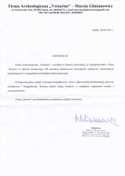 Firma Archeologiczna Vestarius - referencje