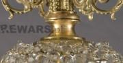 Kristall-Kronleuchter - [vom oben: vor und nach der Konservierung und Restaurierung]