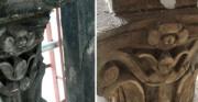 Konserwacja gloriety - piaskowiec, XIX wiek [etapy prac przy konserwacji i rekonstrukcji kapitelu]