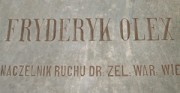 Tombstone - Fryderyk Olex [from left: before and after conservation and restoration]