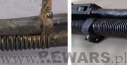 Ręczny Karabin Maszynowy Browning wz.28 - 1934 rok; stal [zbliżenie na rurę gazową, stan przed i po konserwacji]