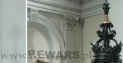 zwieńczenie ambony - 1889 rok; stal, miedź [po lewej stan przed konserwacją, po prawej stan po konserwacji]