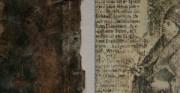 grafika 1- lico, fragment [po lewej stan przed konserwacją, po prawej stan po konserwacji]