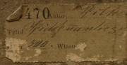 Pastel Wilhelma Wachtela pod tytułem Motyw z Warszawy - kolekcja prywatna, zbliżenie na fragment odwrocia obiektu [od góry stan przed oraz po konserwacji i restauracji]