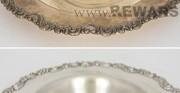 Silberschale - [von oben:  vor und nach der Konservierung und Restaurierung]