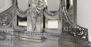 Spiegel - [vom links: vor und nach der Konservierung und Restaurierung]