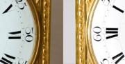 Złocona klatka z zegarem, tarcza zegarowa - [od lewej: stan przed konserwacją i po konserwacji i restauracji]