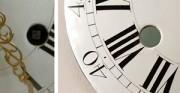 Kartel II, tarcza zegarowa - [od lewej: stan przed konserwacją i po konserwacji i restauracji]