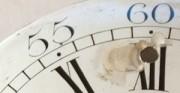 Kartel I, tarcza zegarowa - [od lewej: stan przed konserwacją i po konserwacji i restauracji]