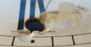 Kartel I, tarcza zegarowa - [od góry: stan przed konserwacją i po konserwacji i restauracji]